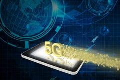 Tablet PC con 5G ilustración del vector