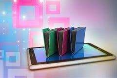 Tablet PC con la carpeta de archivos Fotografía de archivo