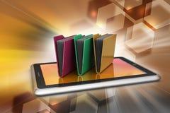 Tablet PC con la carpeta de archivos Fotos de archivo libres de regalías