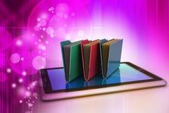 Tablet PC con la carpeta de archivos Fotos de archivo