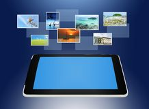 Tablet PC concept of global business Royalty Free Stock Image