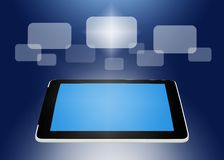 Tablet PC concept of global business Royalty Free Stock Photos