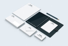Tablet pc and corporate identity Stock Image