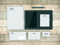 Tablet pc and corporate identity Royalty Free Stock Photo