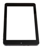 Tablet pc with cut out screen isolated on white Royalty Free Stock Photo