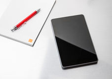 Tablet pc on the desk Stock Photo