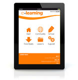 Tablet pc e-learning Royalty Free Stock Images