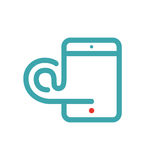 Tablet PC e-mail icon vector illustration. Stock Photos