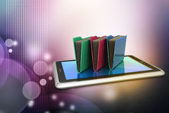 Tablet PC with file folder Royalty Free Stock Images