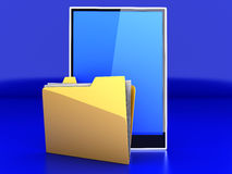 Tablet PC Folder Stock Image