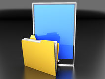Tablet PC Folder Royalty Free Stock Photography