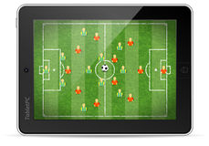 Tablet PC with Football Game Royalty Free Stock Photos