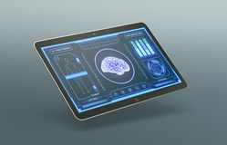 Futuristic medical app Stock Images