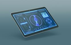 Futuristic medical app Stock Image