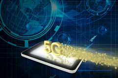 Tablet PC with 5G Royalty Free Stock Photos