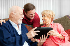Tablet PC Gift for Parents Stock Image