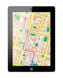 Tablet pc gps Stock Photo