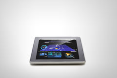 Tablet pc with gps navigator map on screen Stock Photos