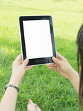 Tablet PC hand Royalty Free Stock Photo