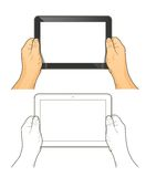 Tablet pc in hands Royalty Free Stock Photo