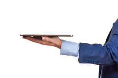 Tablet PC on hands Royalty Free Stock Photography