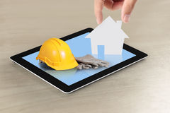 House on tablet Stock Image