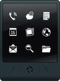 Tablet PC with icons Stock Images