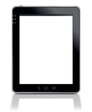 Tablet PC isolated on white. 3d Illustration of Tablet PC with touchscreen LCD panel isolated on whte