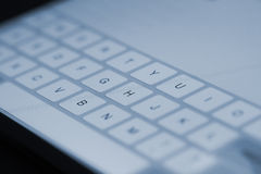 Tablet pc keyboard Stock Image