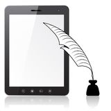 Tablet PC  laptop with a pen and ink Royalty Free Stock Images