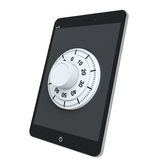 Tablet PC with Lock Royalty Free Stock Image