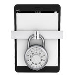Tablet PC with Lock Royalty Free Stock Photography