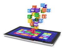 Tablet pc media concept isolated Royalty Free Stock Photography
