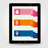Tablet pc and menu Royalty Free Stock Photo