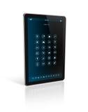 Tablet-PC mit apps Ikonenschnittstelle Lizenzfreie Stockfotos