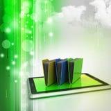 Tablet-PC mit Dateiordner Lizenzfreie Stockfotos