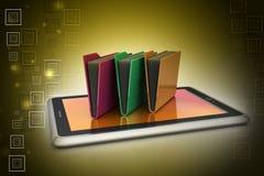 Tablet-PC mit Dateiordner Stockfotografie