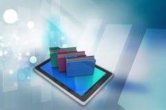 Tablet-PC mit Dateiordner Lizenzfreie Stockbilder