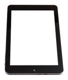 Tablet-PC mit dem herausgeschnittenen Schirm lokalisiert auf Weiß Lizenzfreies Stockfoto