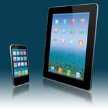 Tablet pc and mobile phone Royalty Free Stock Photos