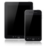 Tablet pc and mobile phone Stock Photos