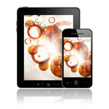 Tablet pc and mobile phone Royalty Free Stock Photo