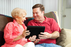 Tablet PC for Mother Stock Photos