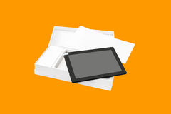 Tablet PC in new packaging. Stock Images