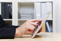 Tablet PC in office Stock Image