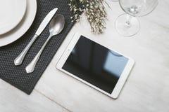 Tablet pc restaurant Stock Photos