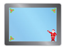 Tablet pc with Santa Claus Stock Image