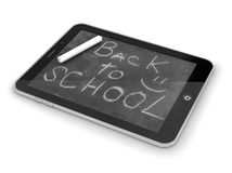 Tablet PC with school desk Royalty Free Stock Images