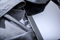 Tablet PC on a shirt Royalty Free Stock Image