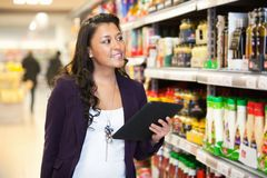 Tablet PC Shopping List Royalty Free Stock Images